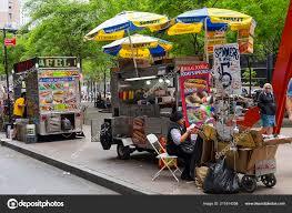 100 New York City Food Trucks Street Vendors June 2017 Stock