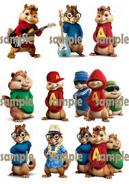 Alvin And The Chipmunks Cake Toppers by Alvin And The Chipmunks Happy Birthday Free Printable Invitation