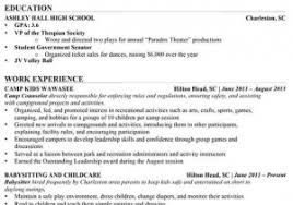 Child Care Resume Objective From Examples For High School Students Of Resumes