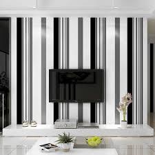 weiß schwarz grau tapete moderne vertikale streifen wand