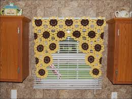 White Kitchen Curtains With Sunflowers by Kitchen Voile Curtains Gingham Kitchen Curtains Waverly Curtains