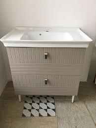 vintage badezimmermöbel 81 5cm keramik waschbecken mit
