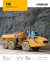 100 Articulated Truck 740 Caterpillar Equipment PDF Catalogs
