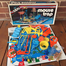 Vintage 1970s Ideal Mouse Trap Game Complete In Original Box W Instructions