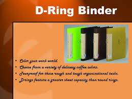 D Ring Binder Color Your Work World Choose From A Variety Of Delicacy Coffee
