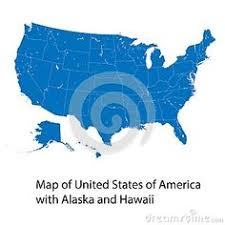 Vector Map Of United States America With Alaska And Hawaii