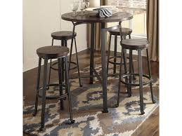 Ashley Signature Design Challiman 5-Piece Round Bar Table Set   Dunk ... Kitchen Pub Tables And Chairs Fniture Room Design Small Kitchenette Table High Sets Bar With Stools Round Bistro Bistro Table Sets Cramco Inc Trading Company Nadia Cm Bardstown Set With Bench Michaels Contemporary House Architecture Coaster Lathrop 3 Piece Miskelly Ding Indoor Baxton Studio Reynolds 3piece Dark Brown 288623985hd 10181 Three Adjustable Height And Stool Home Styles Arts Crafts Counter