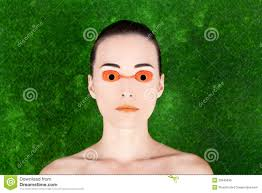 Tanning Bed Eye Protection by Beautiful Woman Wearing Tanning Bed Glasses Stock Photo 20945836