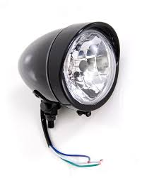 Harley Davidson Light Fixtures by Gloss Black Headlight With Visor Light Lights Fits Harley Davidson