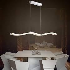 modern acrylic wave shape white led pendant light kitchen island