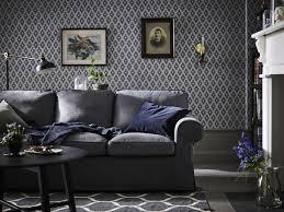ikea deutschland graues ektorp sofa vor grauer wand