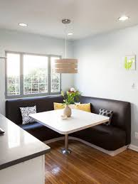 12 Ways To Make A Banquette Work In Your Kitchen   HGTV's ... East West Fniture 5 Piece Hepplewhite Modern Breakfast Nook Ding Table Set 52 Corner And Chairs Kitchen How To Mix Decor Styles A Velvety Update 12 Ways Make A Banquette Work In Your Hgtvs Bremerton 3piece By Coaster At Dunk Bright Glass Top Room Sets 58 White 7 Pc Nook Setbreakfast And 6 53 With Bench Storage Best 25 Ideas For Small Decorate Sunny Designs Bayside With Side Chair