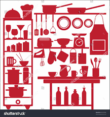 Restaurant Kitchen Clipart Clip Art Images Freepw Tools Equipment Icon Set Food Stock Vector