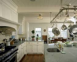 kitchen island pot rack lighting kitchen island