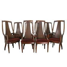 Set Of 8 High Back Mid Century Walnut Dining Chairs At ... Indoor Chairs Slope Leather Ding Chair Room Midcentury Cane Back Set Of 6 Modern High Mid Century Walnut Accent Wingback Curved Arm Nailhead W Wood Leg Project Reveal Oklahoma City High End Upholstered Ding Chairs Ameranhydraulicsco 1950s Metalcraft 2 Available Listing Per 1 Chair Floral Vinyl Covered With Brown Steel Frames Design Institute America A Pair Midcentury Fniture Basix Kitchen Best For Home