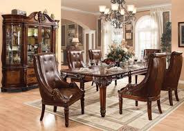 Acme 60075 7Pcs Winfred Cherry Wood Dining Table Set Double Leaf