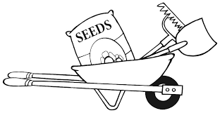 Ve able Garden Clipart Black And White