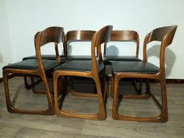 chaise traineau baumann 6 chaises baumann modele traineau 1965