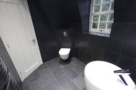 a wall hung pro wc from laufen chrome slate en suite