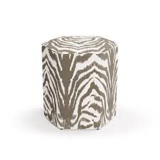 Hexagonal Ottoman The Inside Zebra Ottoman Geometric Shapes