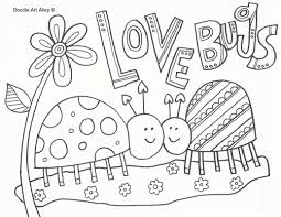Valentine Love Bug Coloring Pages For Kids Gobel Page At