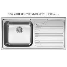 Franke Sink Grid Uk by Franke Galassia Gax 611 Stainless Steel 1 0 Bowl Inset Sink