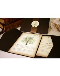 Vintage Book Wedding Invitation Rustic Invitations Tree Librarian Nerd Geek Bookworm