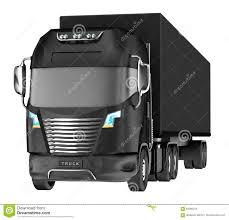 100 Truck And Trailer Supply Balck With Container On White Stock Illustration