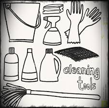 Clean Kitchen Clipart Black And White Magielinfo
