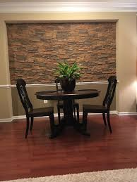 Dining Room Accent Wall Stone Style
