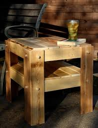 Diy Pallet Bedside Table Ideas Image Homemade Wooden The Woodworking