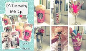 Homemade Bedroom Decor 2015 13 Emmihearts Decorating With Cups DIY Room Decorations And