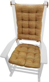 Barnett Products Rocking Chair Cushion Set - Brisbane Tan - Extra-Large -  Latex Foam Filled Seat Pad And Back Rest - Reversible (Bronze/Copper) Child Rocking Chair Cushions Hayden Lavender Made In Usa Machine Washable New Savings On Gulls Point Cushion Set Latex Cheap Sale Find Morning Dew Yellow Plaid Pin Rose Grey Pads Grey Kitchen Ding Chair Pads Set Of 2 Special Prices Barnett Home Decor Coastal Inoutdoor Fniture Red Tufted Jumbo Sets For Wilderness Summit Garnet Ding Ties Foam Fill Rustic Cotton Duck Hand Crafted Comb Back Windsor By Luke A