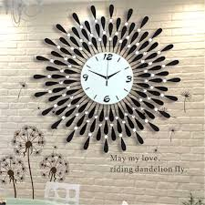 3D Vintage Crystal Sunburst Wall Clock Watch Luxury Diamond Large Morden Design Wall Clock Home Decor Decoration Accessoriesin Wall Clocks From Home