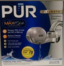 Pur Water Filter Faucet Adapter by Pur Fm 9000b Faucet Mount Water Filter Stainless Steel Style