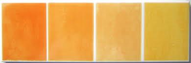 bordüre badezimmergestaltung gelb orange villeroy boch r931 6 5 20 cm