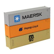 100 Shipping Container Model Details About HO Gauge 40ft 187 Cargo Maersk HapagLloyd MSC