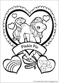 Pony Printable Coloring Pages Color My Little