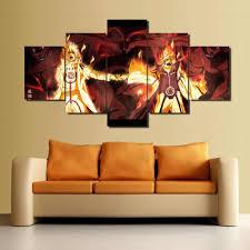 gerahmt heißer verkauf 5 stück leinwand kunst aufkleber tapete malerei druck leinwand wand kunst bild home dekoration wohnzimmer