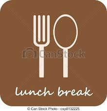 Lunch Break Isolated Vector Icon On Light Brown Background Rh Canstockphoto Com Time Clip Art Funny
