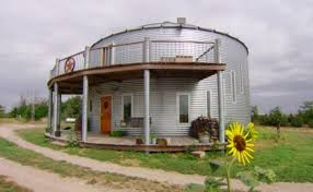 Grain Bin House With Veranda