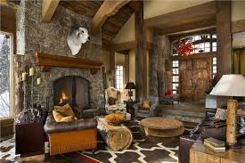 Rustic Interior Design Fascinating Decor Inspiration Beartrap Great Room