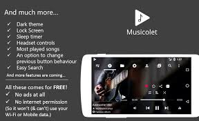 Musicolet is pletely free android music player app It is an ad free music