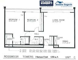 C Floor Plans by Plan C Rossmoor Towers Floor Plan 24055 Paseo Lago Laguna