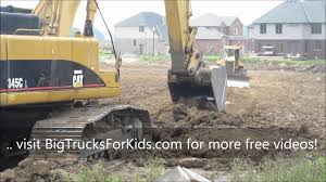 Dump Truck & Digger At Work For Kids - YouTube
