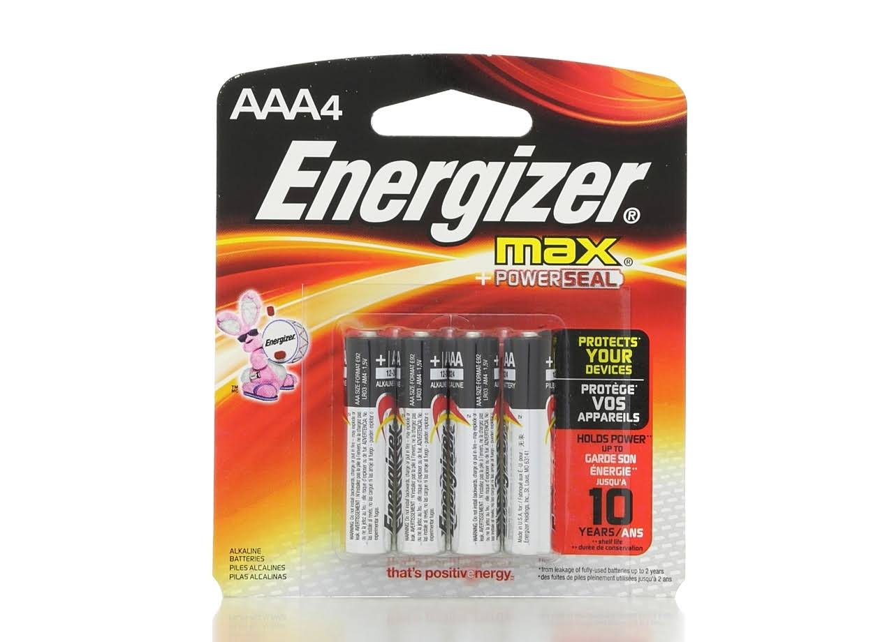 Energizer Max Batteries - AAA, x4