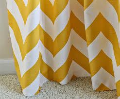 Yellow And White Chevron Curtains by Carolina On My Mind Kitchen Living Room Zippy Corn Yellow