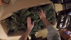Menards Christmas Tree Storage Container by How To Put A Fake Led Christmas Tree Back In The Factory Box Youtube