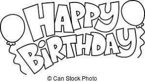 Happy Birthday Text Graphic