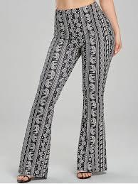 Trendy African Elephant Print Flare Pants